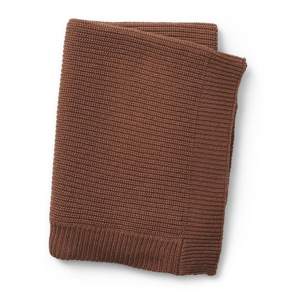 Elodie Détails - Couverture tricot laine Burned Clay