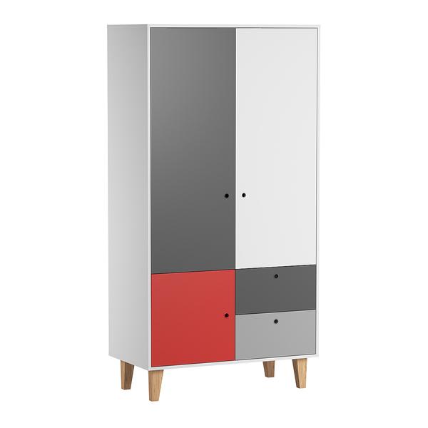 Vox - Armoire 2 portes Concept - Rouge