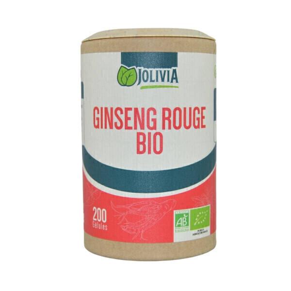 Jolivia - Ginseng Rouge Bio - 200 gélules végétales de 300 mg