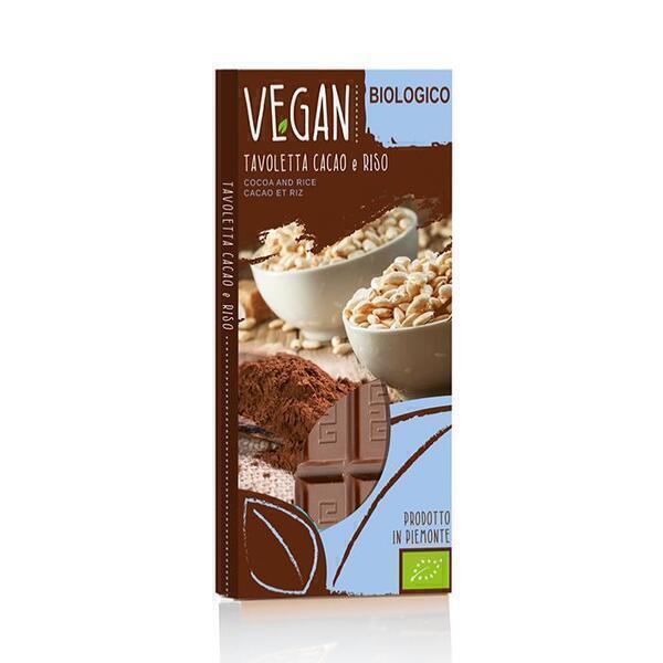Saveurs de Tosca - Tablette de Chocolat Bio et Vegan saveur cacao et de riz - 85 gr