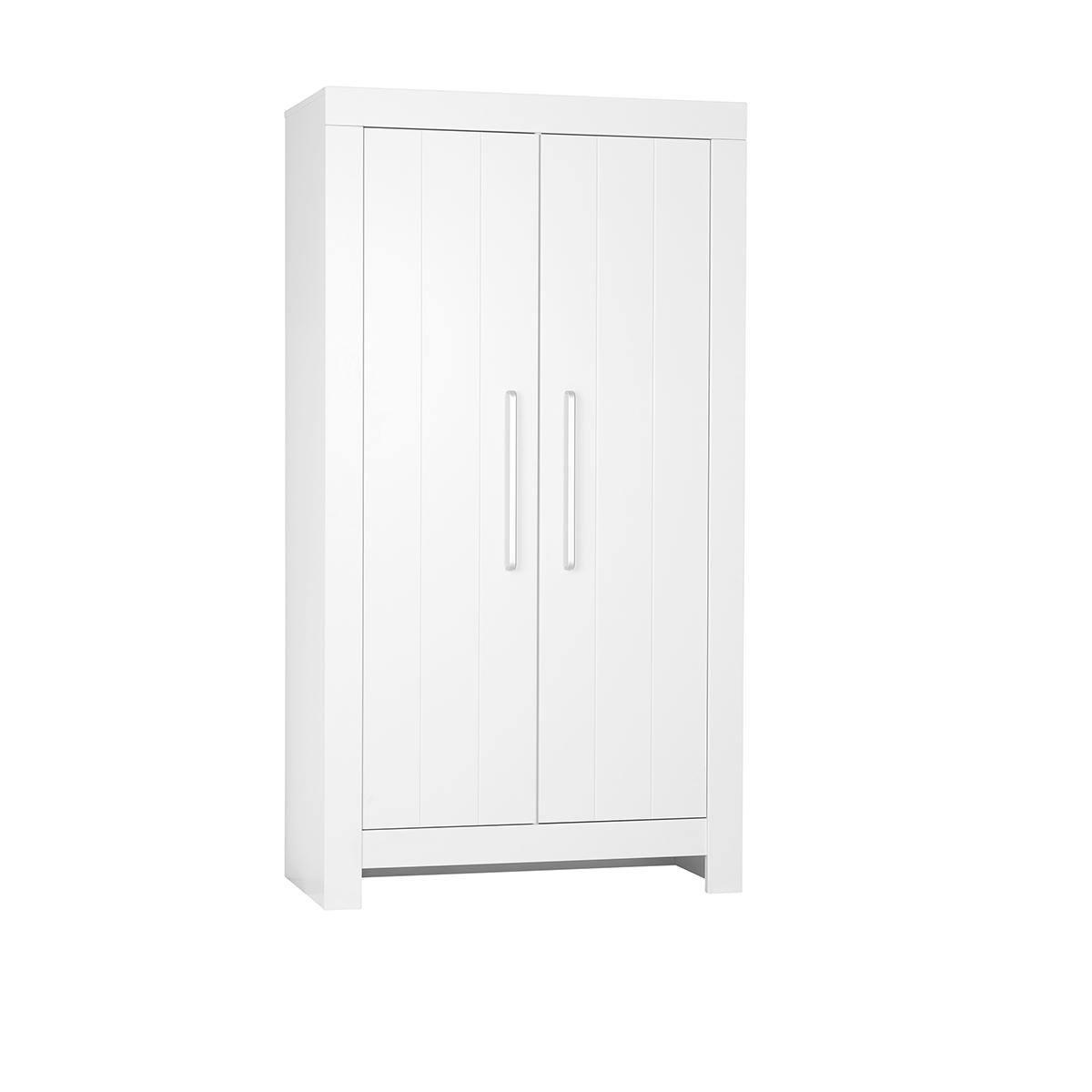 Pinio - Armoire 2 portes Calmo - Blanc