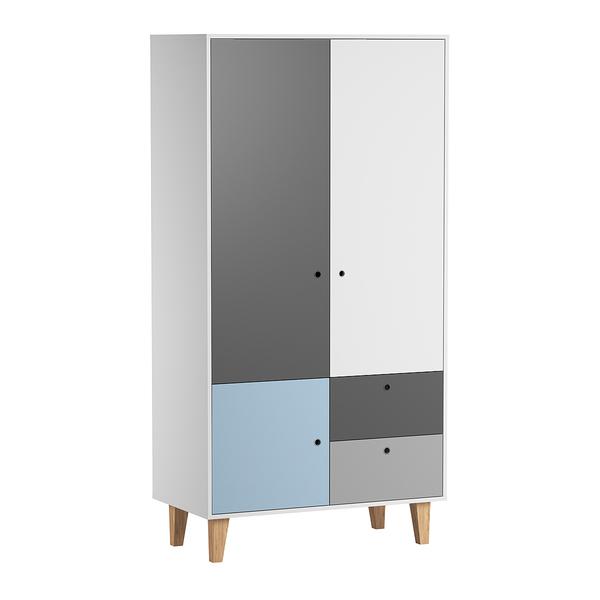 Vox - Armoire 2 portes Concept - Bleu