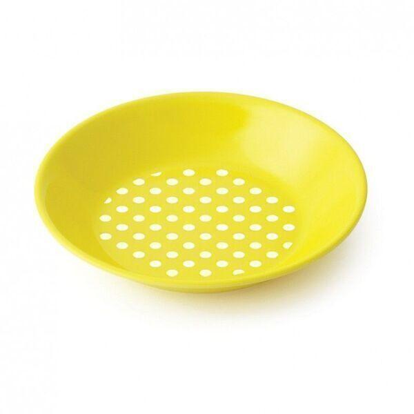 Plastorex - Assiette creuse melamine jaune petits pois blancs - Plastorex