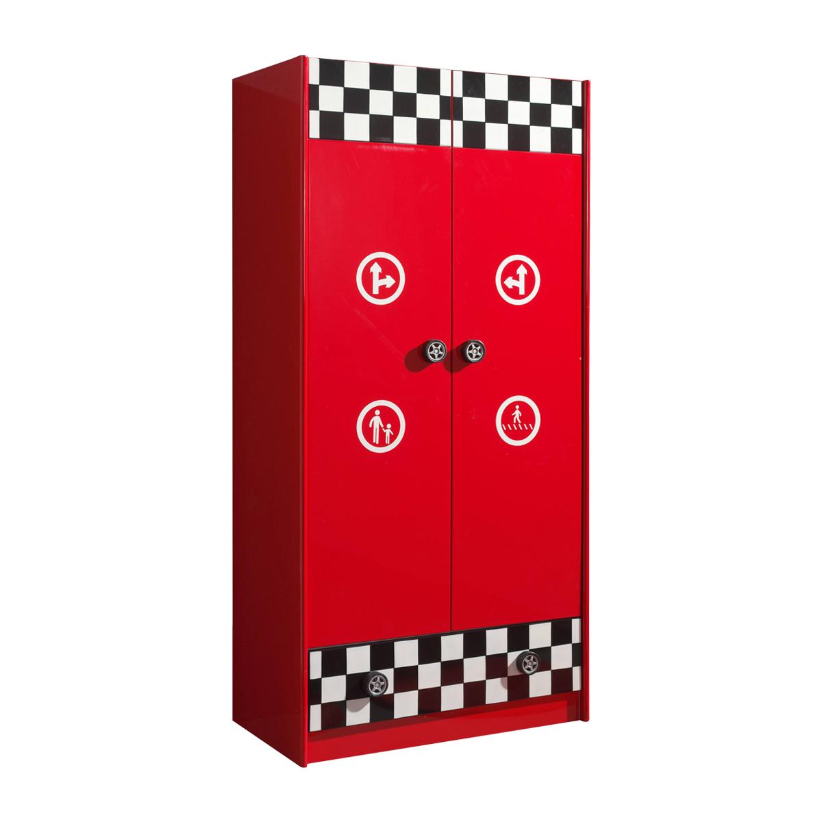 Vipack - Armoire 2 portes Le Mans Car Beds - Rouge