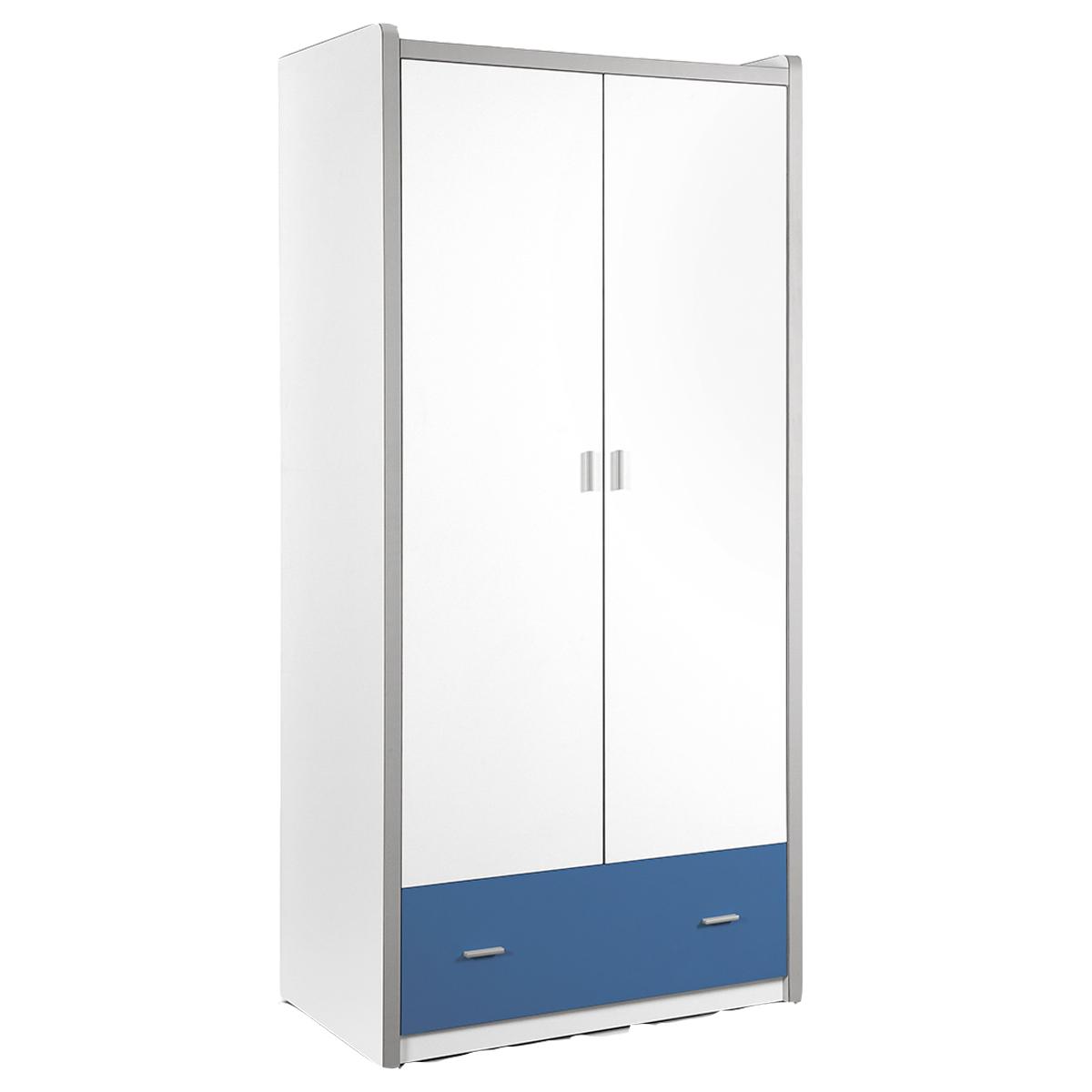 Vipack - Armoire 2 portes Bonny - Bleu