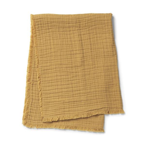 Elodie Détails - Couverture coton froissé Gold