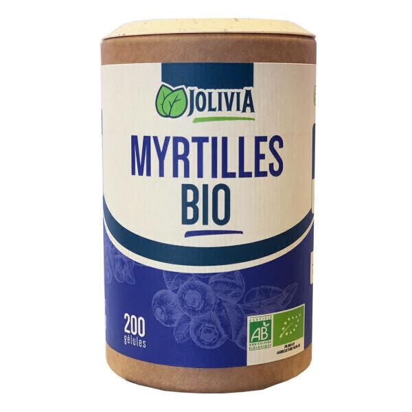 Jolivia - Myrtilles Bio - 200 gélules de 250 mg