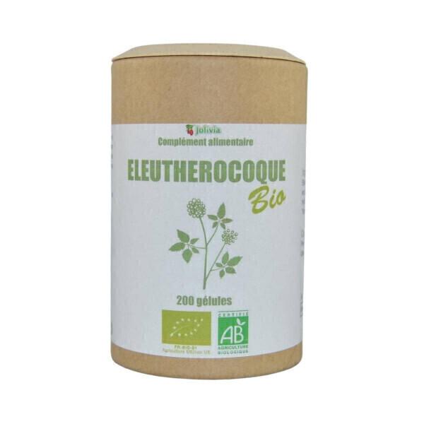 Jolivia - Eleuthérocoque Bio - 200 gélules végétales de 195 mg