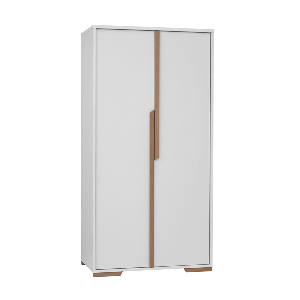 Pinio - Armoire 2 portes Snap - Blanc et bois