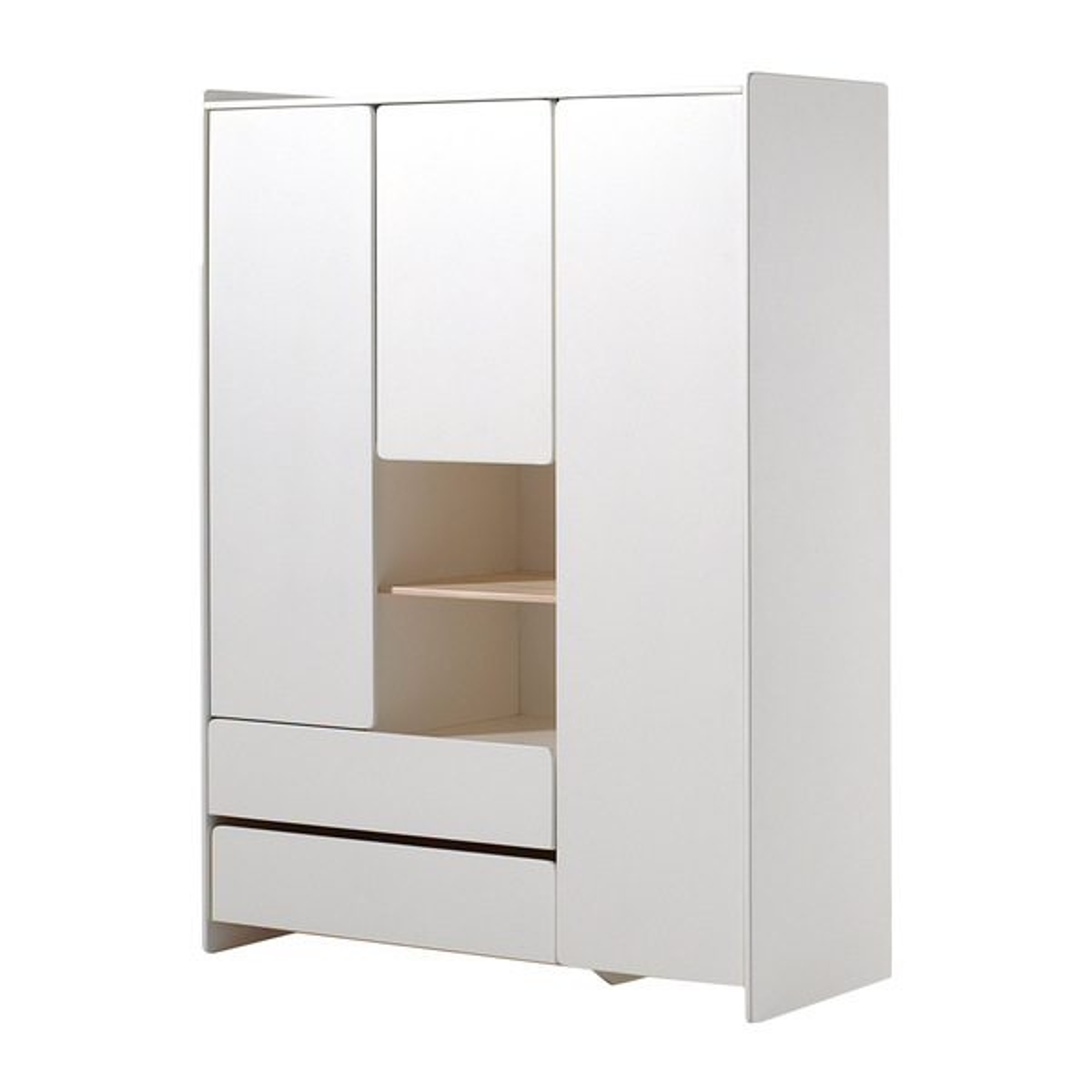 Vipack - Armoire 3 portes Kiddy - Blanc