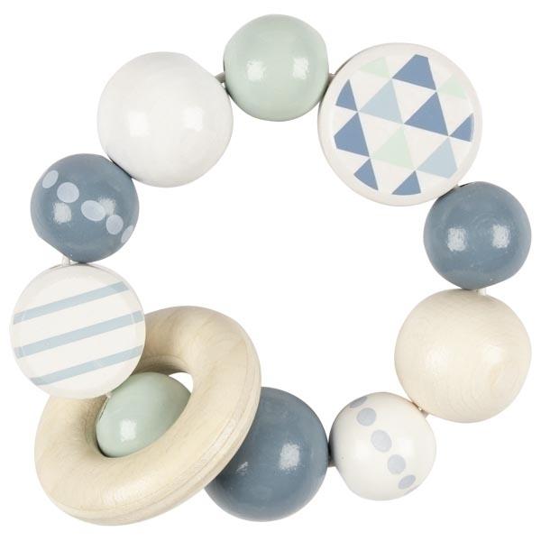 Goki - Hochet 1 anneau bleu Série Limitée