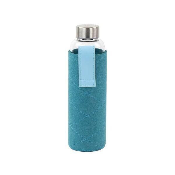 Yoko Design - Bouteilles en verre avec pochette en feutrine 550ml