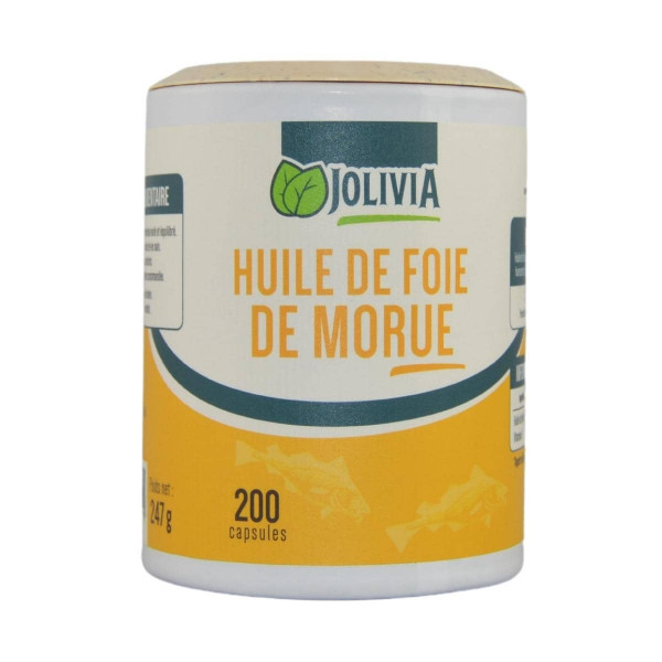 Jolivia - Foie de morue - 200 capsules de 500 mg