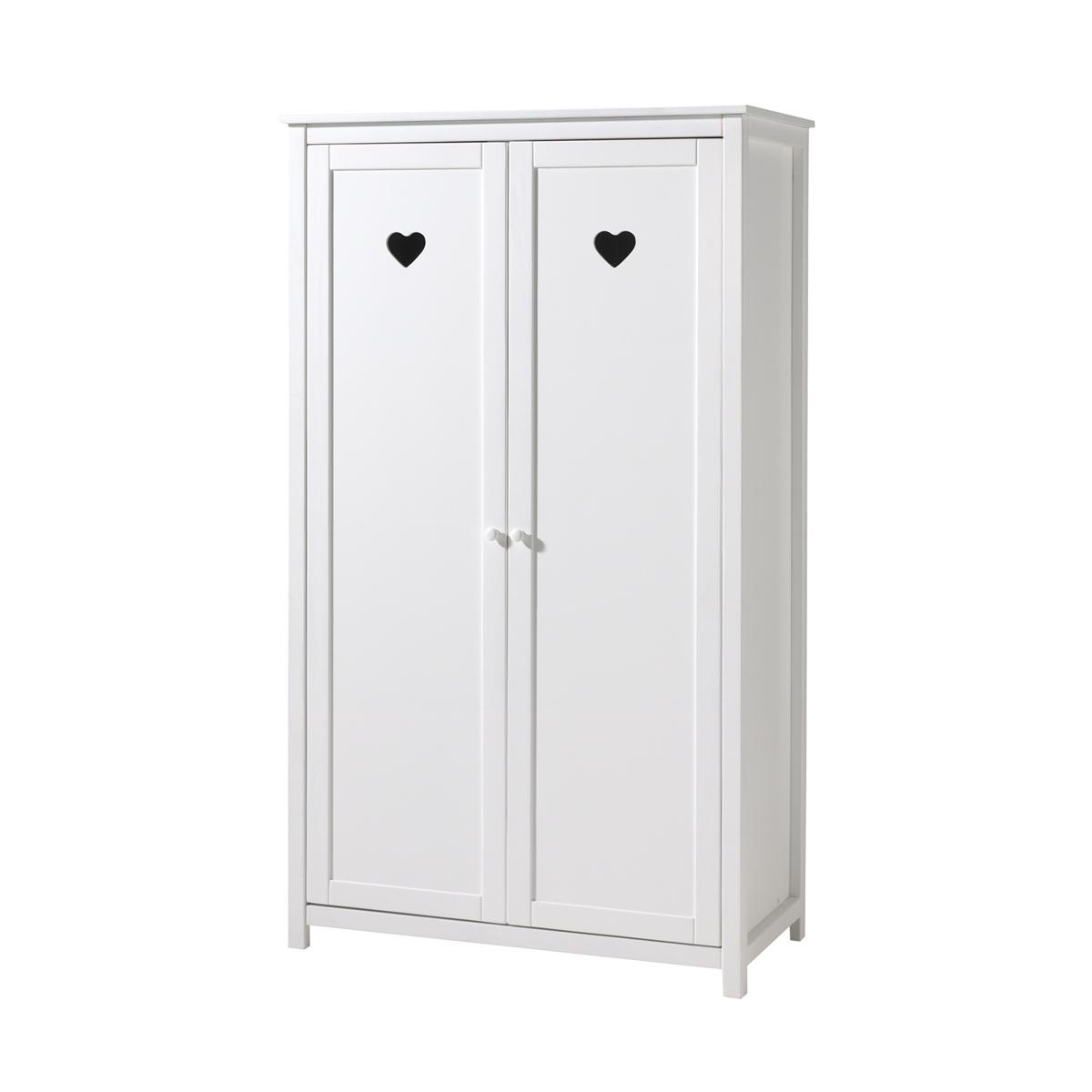 Vipack - Armoire 2 portes Amori - Blanc