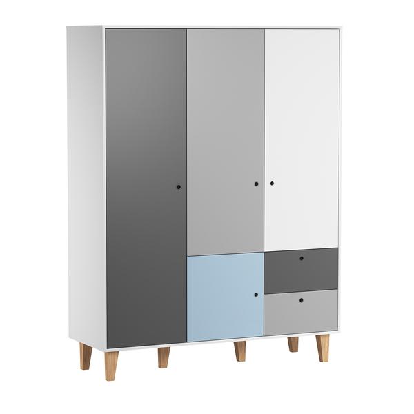 Vox - Armoire 3 portes Concept - Bleu