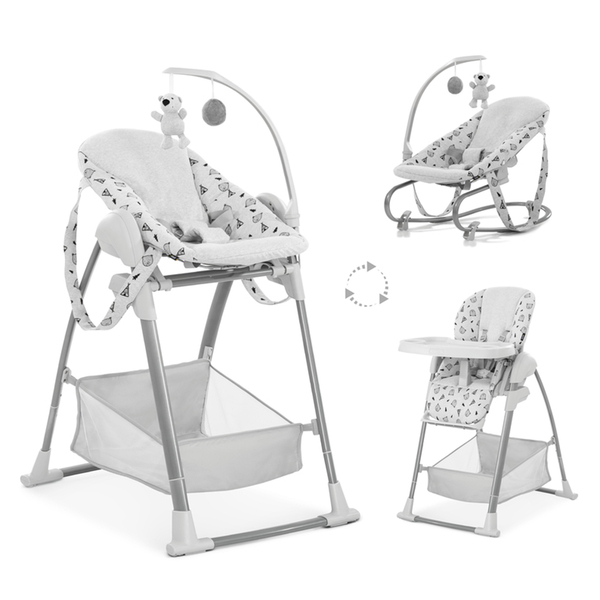 Hauck - Chaise Haute Sit n Relax 3in1 - Nordic Grey