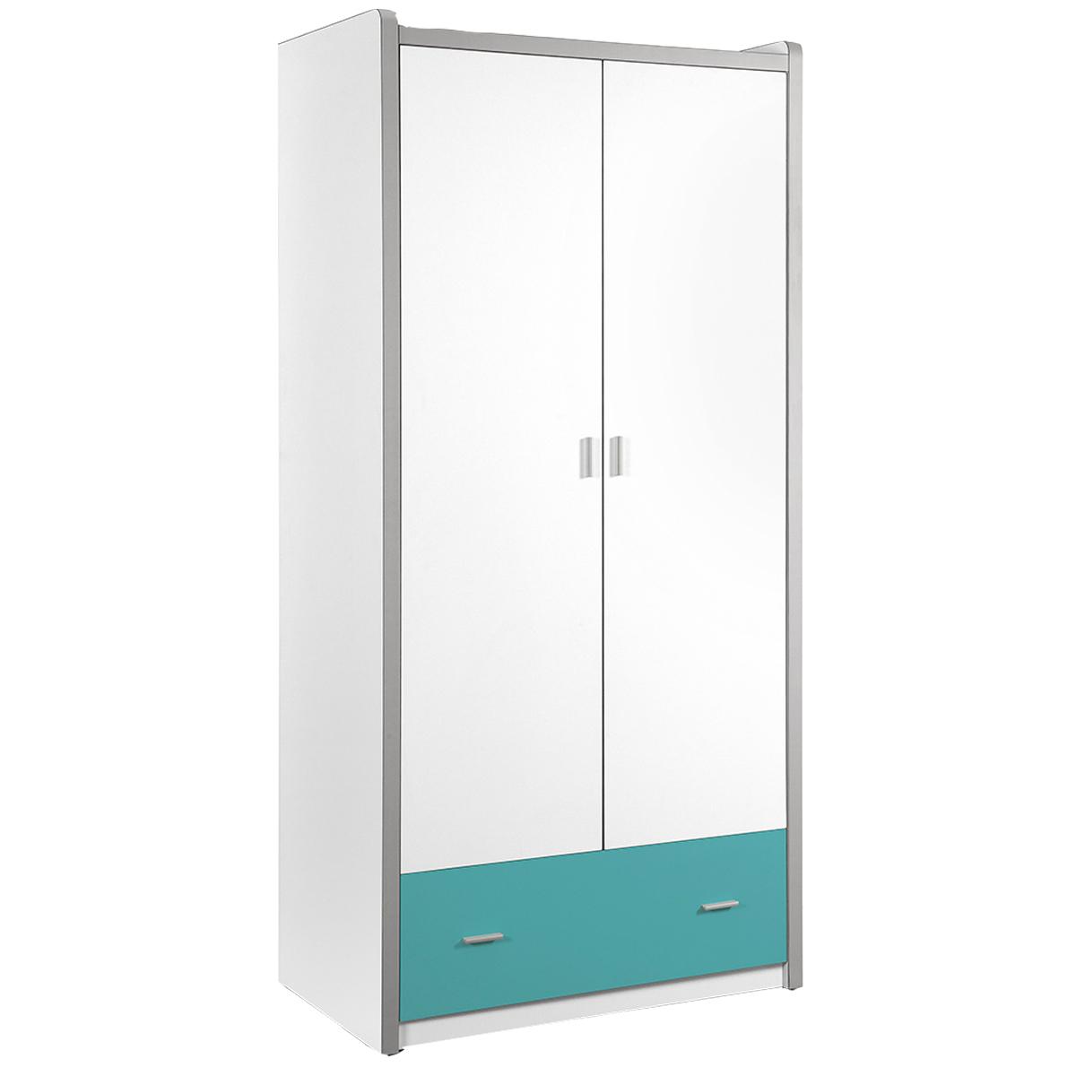 Vipack - Armoire 2 portes Bonny - Turquoise