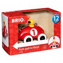 Brio - 30226 Voiture de course push and go rouge