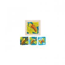 Goki - Puzzle à couches cycle Papillon