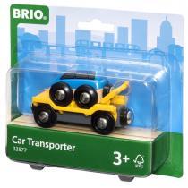 Brio - 33577 Wagon transport de voiture avec rampe