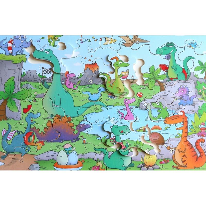 Michèle Wilson - Puzzle MW Les Dinosaures 24 Pièces