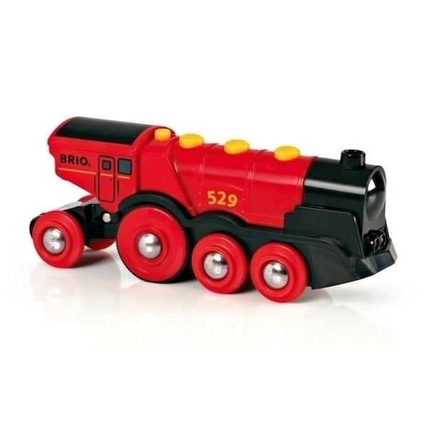 Brio - 33592 Locomotive Rouge Puissante a Piles