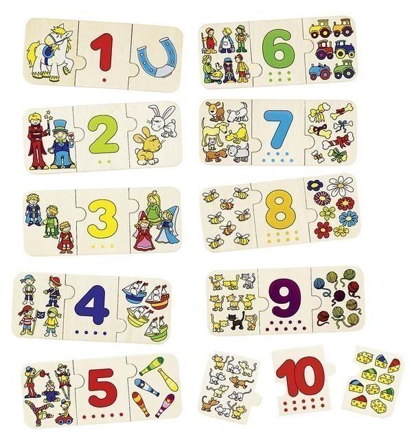 Goki - Puzzle chiffres et quantités
