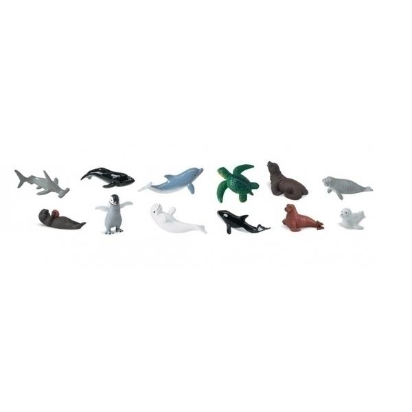 Safari - 12 figurines Bébés animaux marins