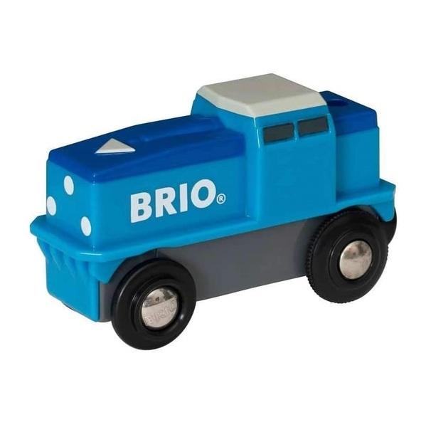 Brio - 33130 Locomotive de fret bleue a piles