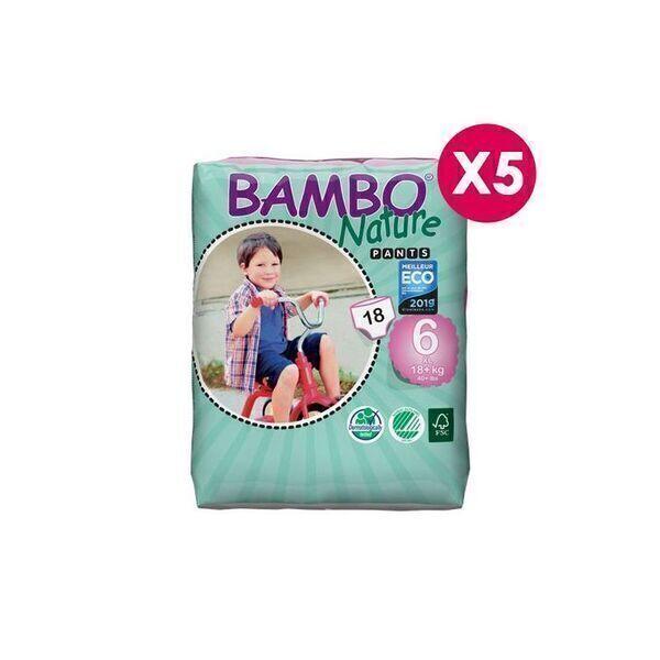 Bambo Nature - Pants Bambo Nature XL T6 - 18+ kg - 5 paquets de 18