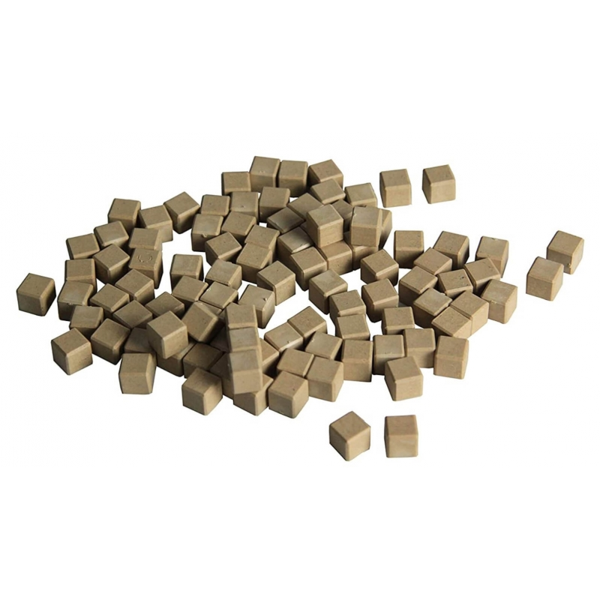 Wissner - 100 cubes unites en bois naturel base 10