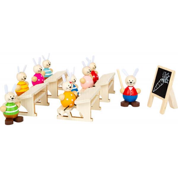Small Foot - J'aime l'école !  - jouet d'imitation en bois - classe avec tabl