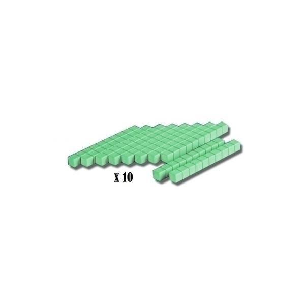 Wissner - 10 barres de 10 vertes en bois