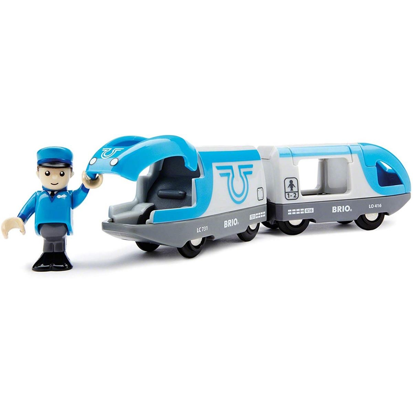 Brio - 33506 Train de Voyageurs a pile
