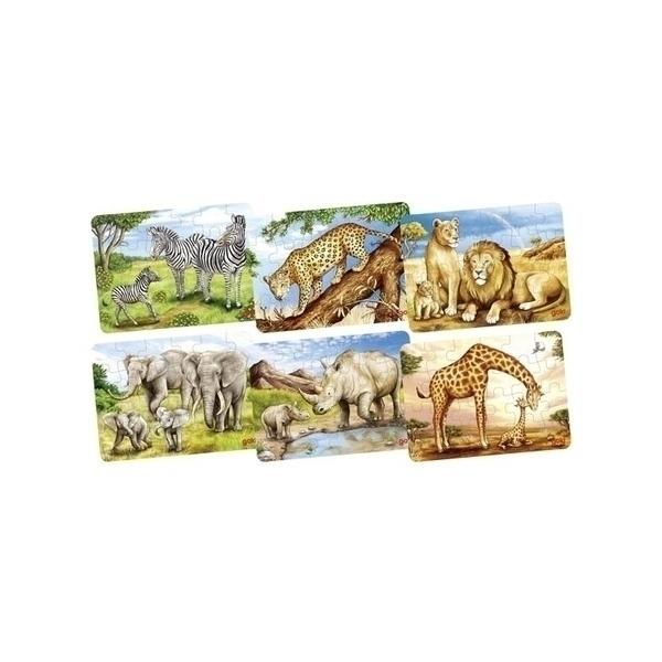 Goki - Mini Puzzle Animaux Africains