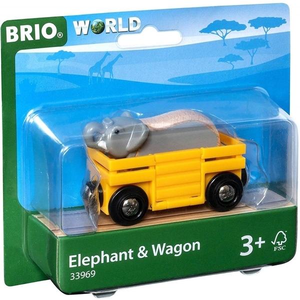Brio - 33969 Wagon et Elephant