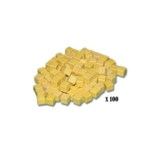 Wissner - 100 cubes unites jaunes en bois base 10