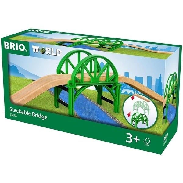 Brio - 33885 Pont empilable avec rails