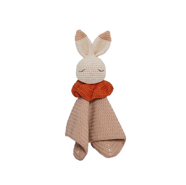 Patti Oslo - Doudou plat en crochet Lapin