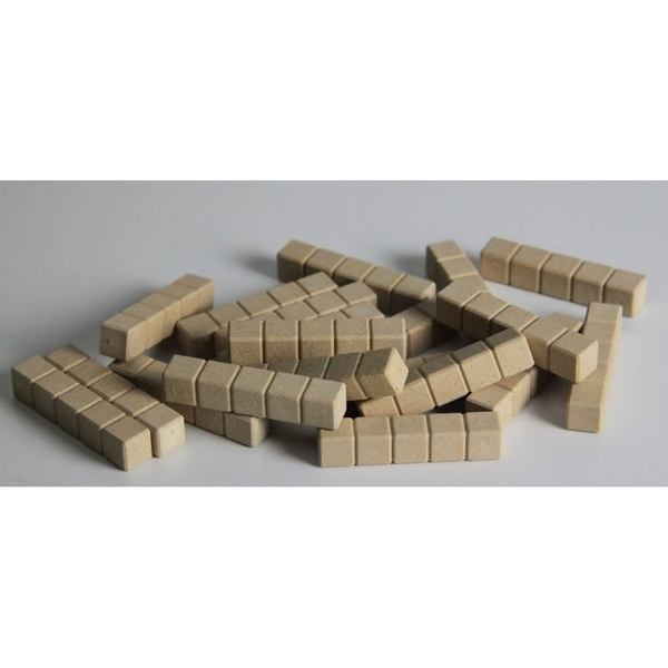 Wissner - 20 barres de 5 - base 10 en bois naturel