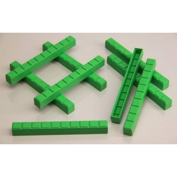Wissner - 50 barres de dizaines vertes en Re-plastic