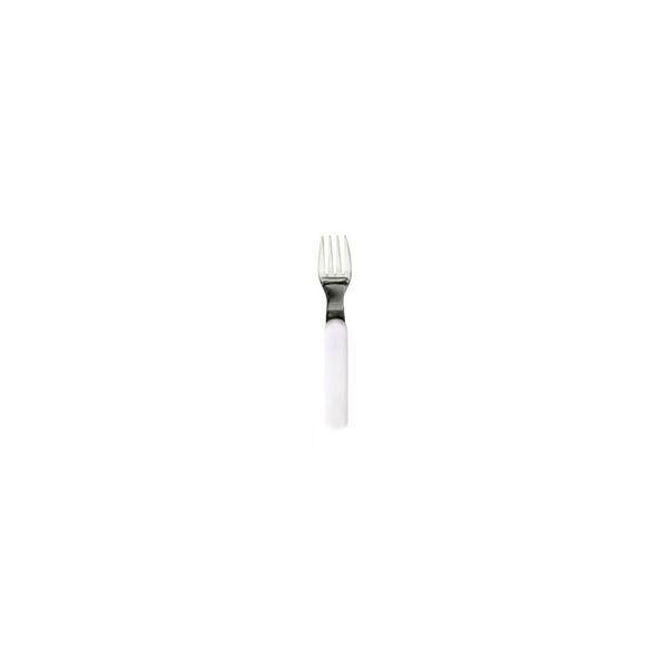 Plastorex - Fourchette Inox Manche blanc - Plastorex