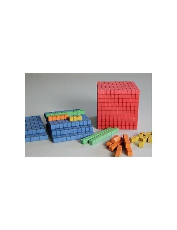 Wissner - 141 pièces bois colorés - base 10