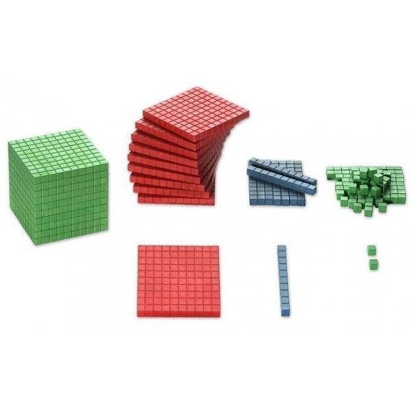 Wissner - 121 pièces bois - base 10 couleurs montessori