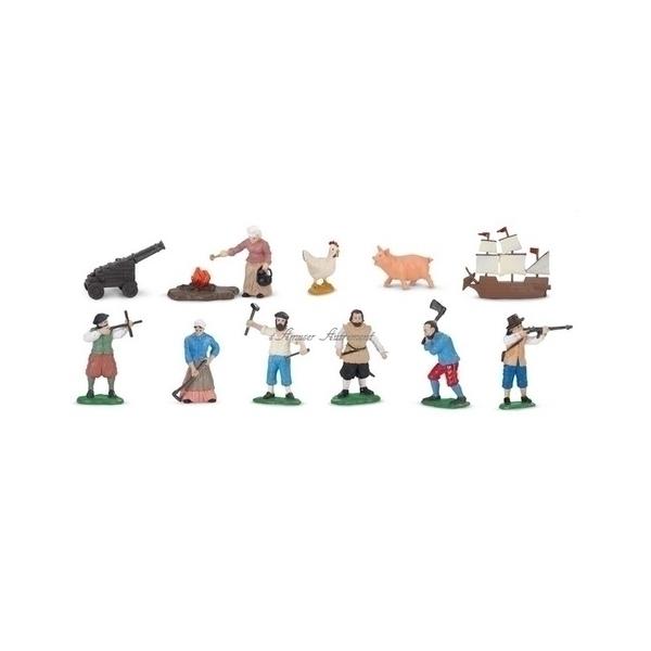 Safari - 12 figurines colons d'Amériques