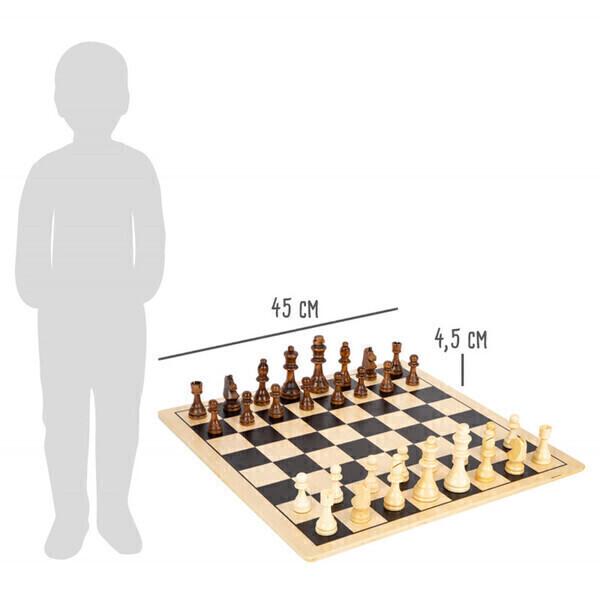 Small Foot - Grand jeu d'échec réversible en bois