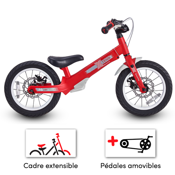 Smartrike - Vélo enfant convertible 3en1 - Xtend Mg+ Rouge