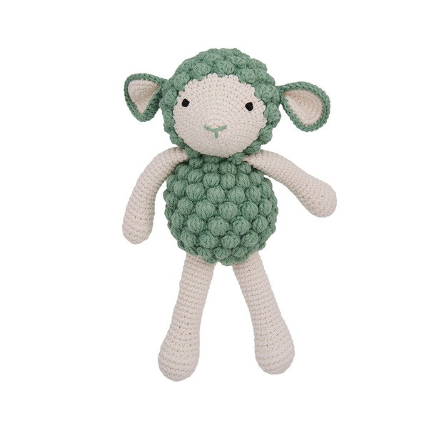 Patti Oslo - Doudou en crochet Mouton vert