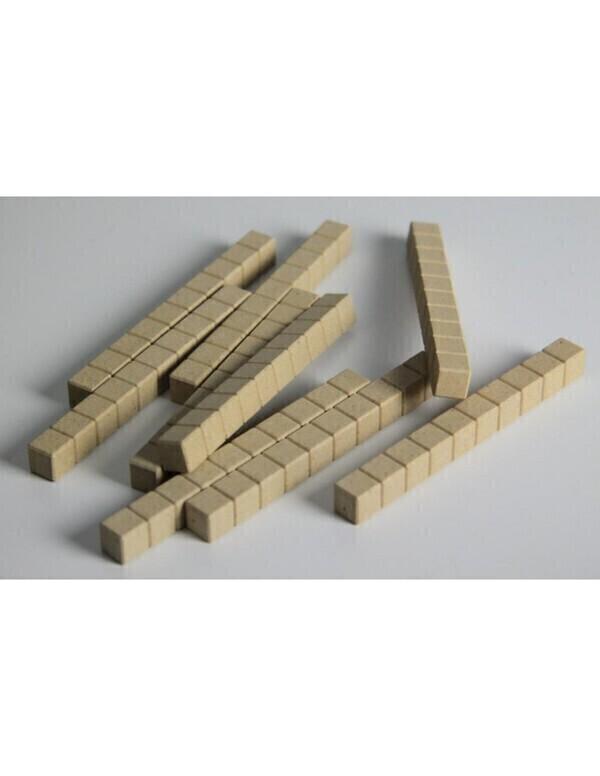 Wissner - 10 barres de 10 - base 10 en bois naturel