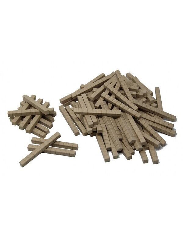Wissner - 100 barres de 10 - base 10 en bois naturel